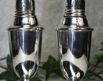 Vintage Sterling Salt and Pepper Shakers- Weighted