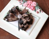 Large Realtree Camo Bling Girls Hair Bow Clip