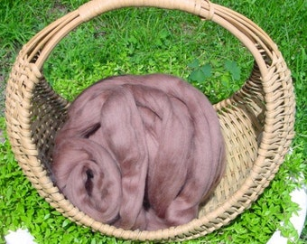 Merino Wool Roving, Mocha, 4 ounces