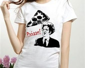 Dr Brule PRIZZA funny Quote fan art Womens white red t ladies Tee Shirt eric birthday present doctor dingus rules and gift sign tim show