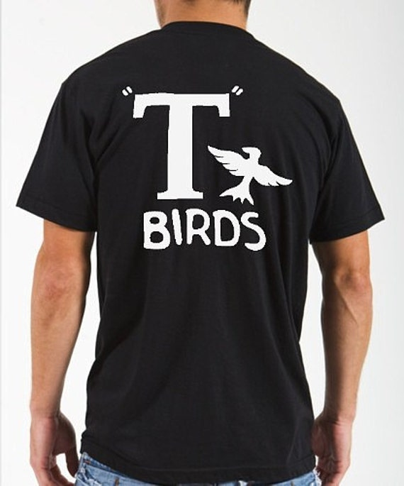 t birds black shirt greaser shirt tee tshirt black lightning