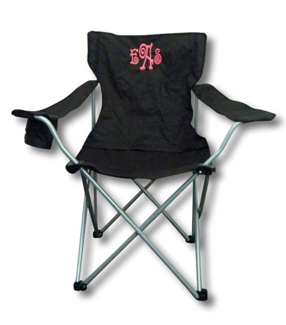 monogrammed folding chair by monogramsetcnc on etsy
