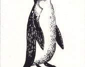 Penguin Screen Print Greetings Card