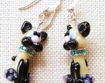Siamese Cat Earrings