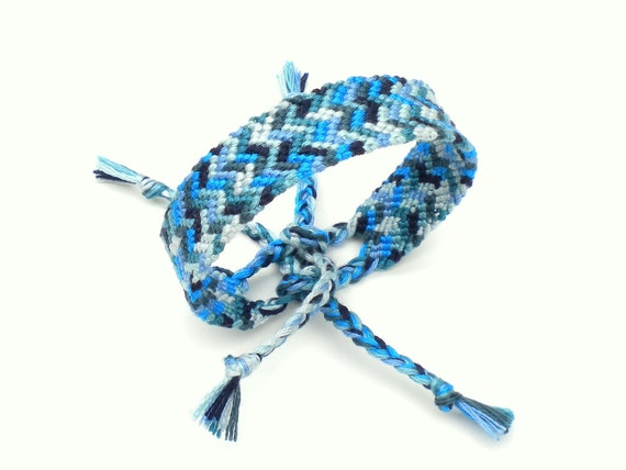 Friendship Bracelet Confetti - Blue, Navy, Teal, Periwinkle