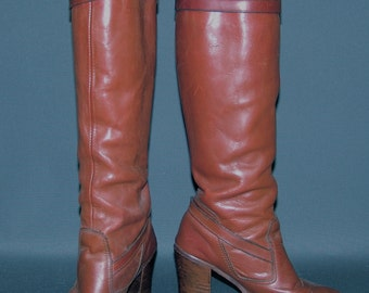 Vintage Tall BOOTS, Zodiac, 1970s