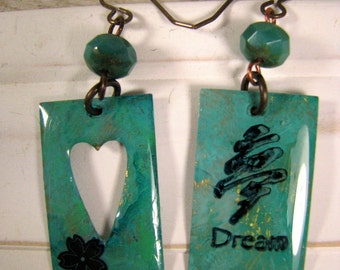 Turquoise Dream Earrings, Handcrafted Dangle Earrings