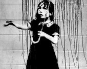 Rain Under The Umbrella - Banksy U.K. Street Graffiti Artist T-shirt