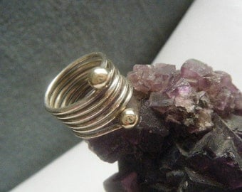 Silver Coil Ring Size 6