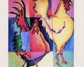 Rooster- Greeting card