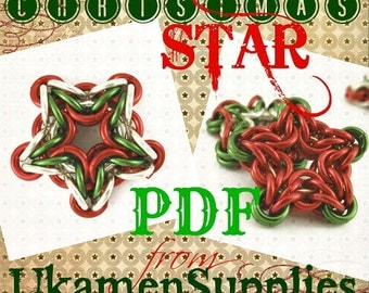 Chainmail Tutorial - Christmas Star pdf -  Intermediate and Experienced  -  Deluxe Instructions