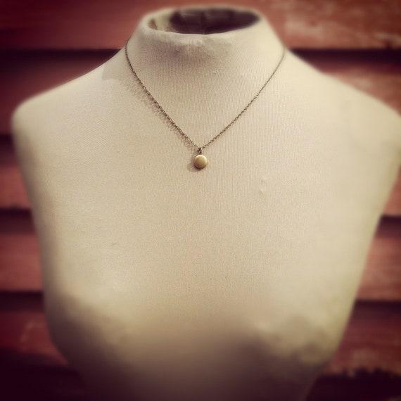 teeny tiny locket necklace - choose your length.