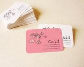 Custom business cards design print template