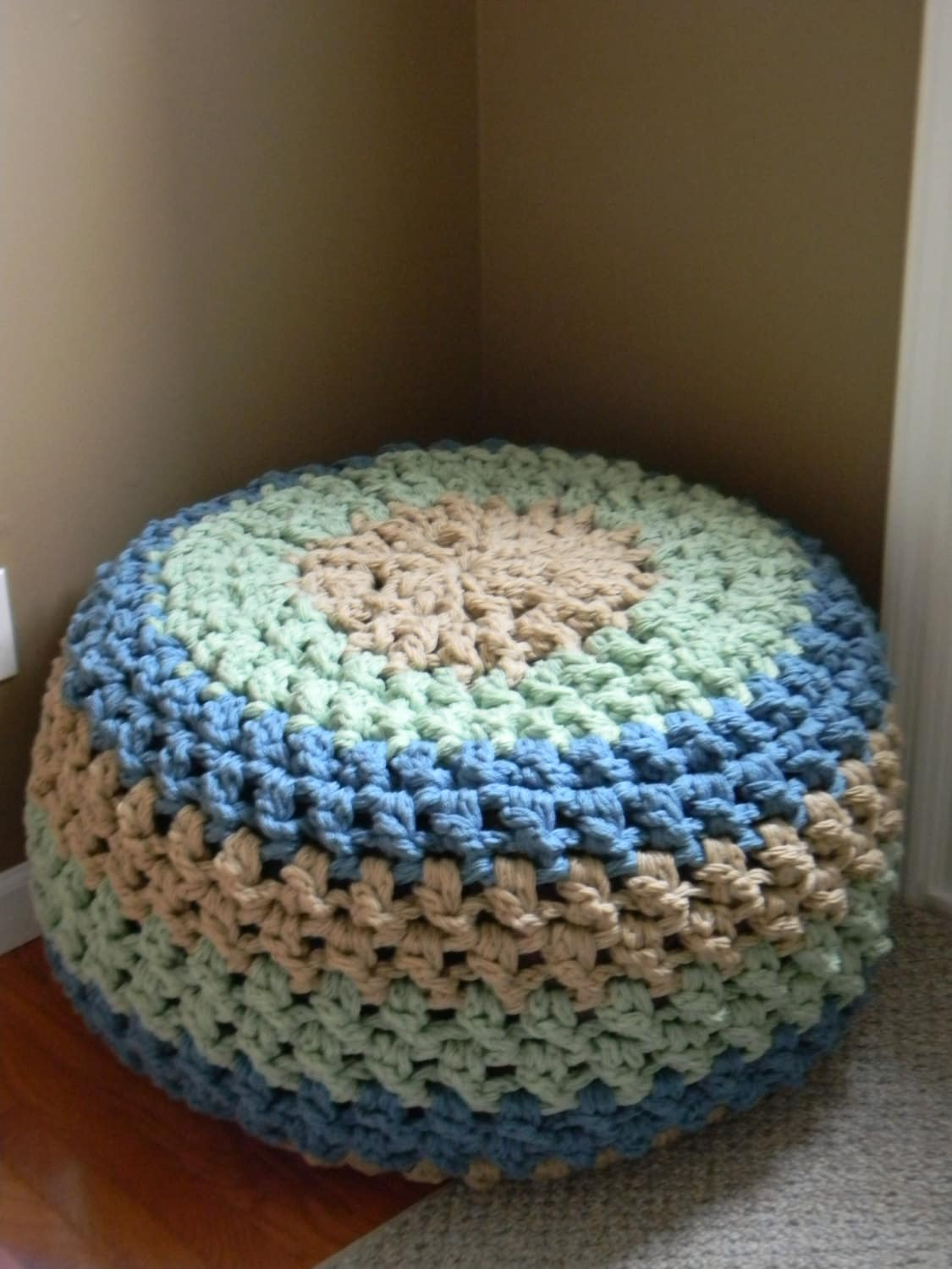 How to make bean bag chairs - Free The Lucky Hanks Signature Crochet Pouf Pattern Pattern Only With Free Bean Bag Pattern
