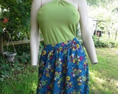 Seriously Bohemian! Hippie Skirt - 70s Skirt - Daisy Print Skirt - 70s Costume -  Multicolored Vintage Skirt - Hippy Skirt Size 0