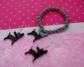 Chihuahua set earrings and bracelet - Choose your favorite color