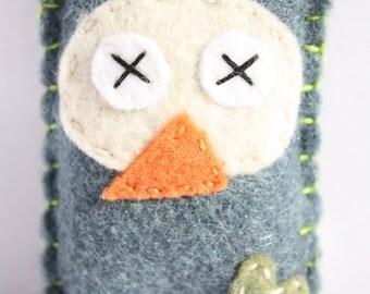 Eco fi felt Owl Keychain