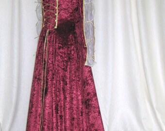 Juliette, a Renaissance, Medieval, Pre- Raphaelite, Hand Fasting,  Wedding dress.
