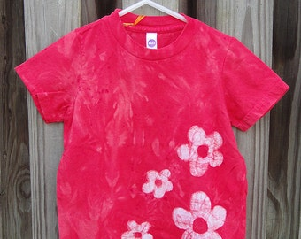 Flower Girls Shirt, Red Girls Flower Shirt, Kids Flower Shirt, Red Girls Shirt, Flower Girl Shirt, American Made Kids Shirt (3)