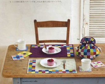 Patchwork Quilt for Beginners - Japanese Craft Book for Quilting - Reiko Washizawa - Easy Tutorial, Bag & Pouch, Cushion, Tapestry, B1019