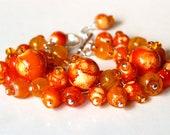 Beaded Jewelry Orange Bracelet Beaded Bracelet Sunlight Bracelet  Autumn Bracelet