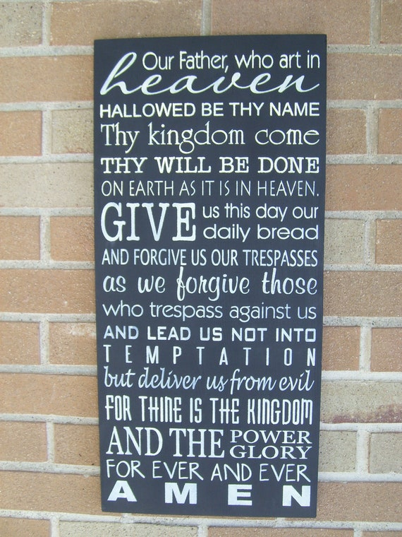 The Lord's Prayer/WEDDING Sign/ Hand Painted Wood Sign, Home Decor, Typography, Easter
