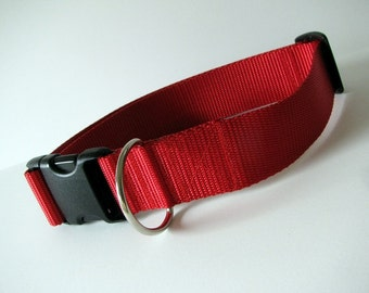 """LARGE 1 1/2"""" Simply Red dog collar"""
