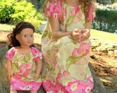 custom order Dolly and Me Dress Set with matching headbands, sizes 1-8, Great for christmas present