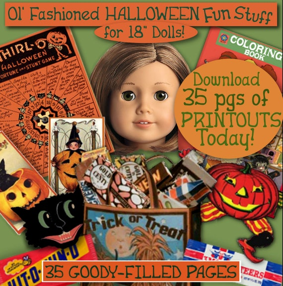 18 inch Doll Halloween Printables