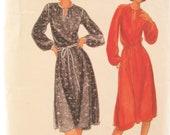 Butterick 5677 1970s Blouson Dress Vintage Sewing Pattern Bust 38