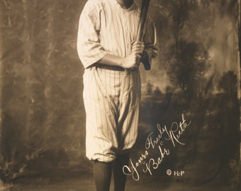 Babe Ruth Unrestored Image 8 1/2 x 11 suitable for framing.