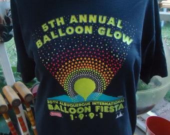 vintage tshirt BALLOON GLOW 1991 Albuquerque NM Fiesta