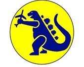 Godzilla pinback button