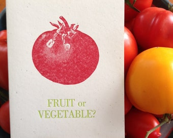 Fruit or Vegetable -Letterpress
