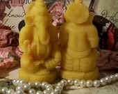 2 Hindu Lord Ganesha Ganesh Beeswax Candle SMALL Candles God