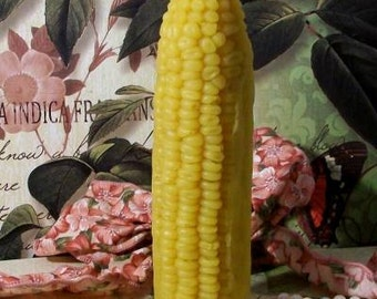 Beeswax Corn On The Cob Candle With Husk