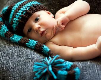 CUSTOM Elf Crochet Hat - Elf Hat - Crochet Hat - Crochet Elf Hat - Photo Prop - Children's Clothing
