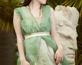 Green Siren La Mode 1913 gown