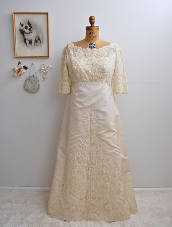 Vintage 1960s Wedding Dress Vintage 60s Wedding By BohemianBisoux