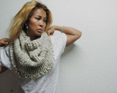 The Mister Infinity Cowl Scarf // women scarf // men scarf // man cowl // man scarf // oatmeal