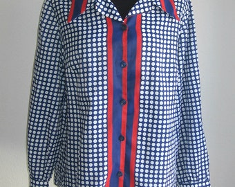 1970s Blouse - Dotted