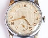 A RARE soviet Russian mens wristwatch Jantar Amber from Soviet Union era