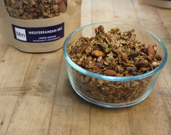 Mediterranean Mix -- sesame, fig, pistachio and almond granola