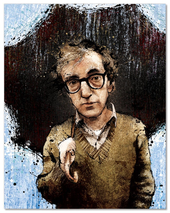 "Woody Allen's ""The Longest Pause"" - 12x18 Officially Signed, Dated and Hand-Stamped Art Print"