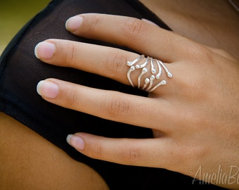 Carnivorous Plant No. 2: Sterling Silver Ring