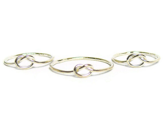 Bridesmaid jewelry Tie the Knot Ring Sterling silver knot ring Sterling silver ring silver stacking ring bridesmaid gift infinity ring