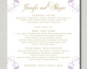Baroque Sweet Menu - Set of 50 for Weddings, Events, Parties and More - by Abigail Christine Design