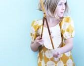 Native Princess mustard drop waist ruffle dress