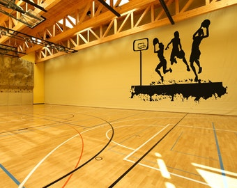 Vinyl Wall Decal Sticker Women's Basketball Court OSAA508s