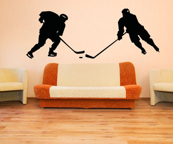 Vinyl Wall Decal Sticker Hockey Game by Stickerbrand